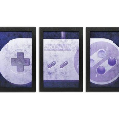 3-Piece SNES Controller Wall-Art