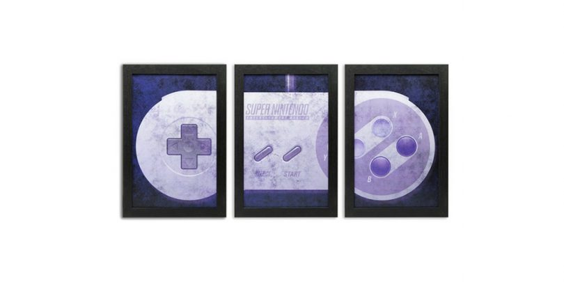 3-Piece SNES Controller Wall-Art