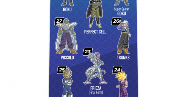 """""""Collect them all"""" back pamphlet for Dragon Ball Z FiGPiN collection"""