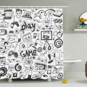 Gaming Shower Curtain Ambesonne