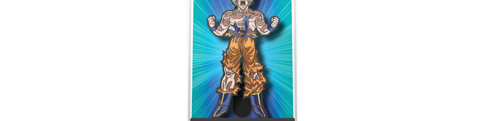 Super Saiyan Goku Enamel Pin, with display case, by FiGPiN