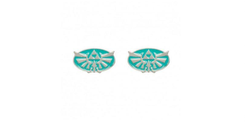 Hylian Crest Earring Blue