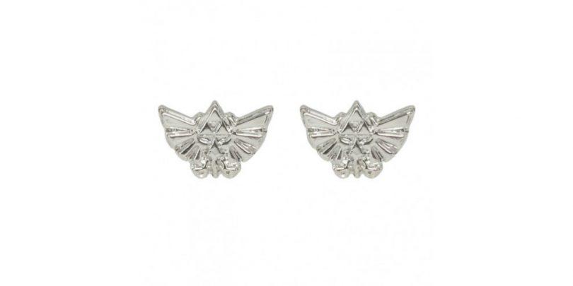 Hylian Crest Earring Silver
