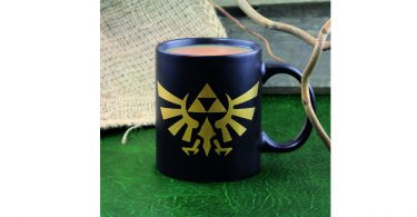 Hyrule Coffee Mug Filled With Coffee