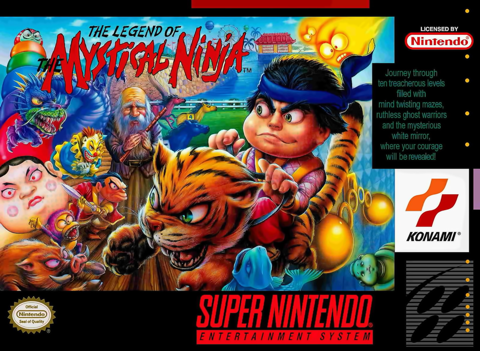 Legend of the Mystical Ninja SNES Box Art