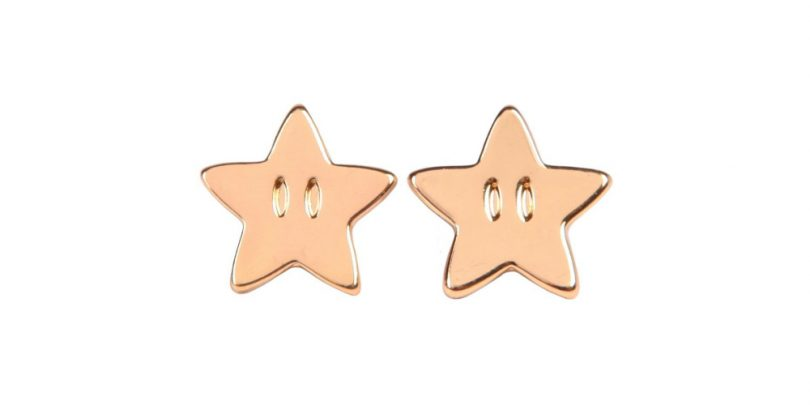 Super Mario Star Power Earrings