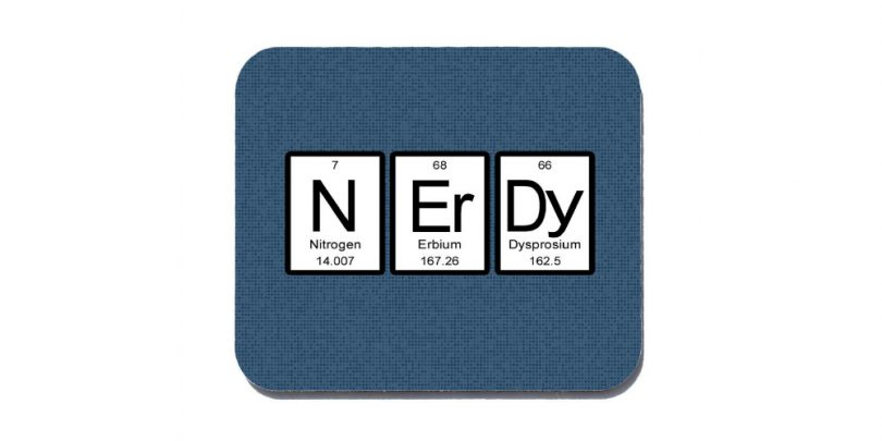 Periodic Table Nerdy Mouse Pad