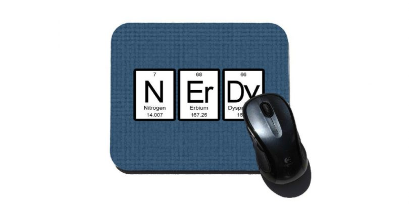 Periodic Table Nerdy Mouse Pad W: Mouse