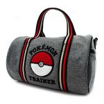 Pokemon Grey Duffel Duffle Bag