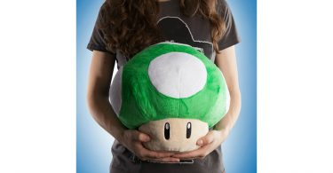 Super Mario 1-Up Plush Being Held