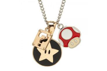 Super Mario Charm Necklace Close Up