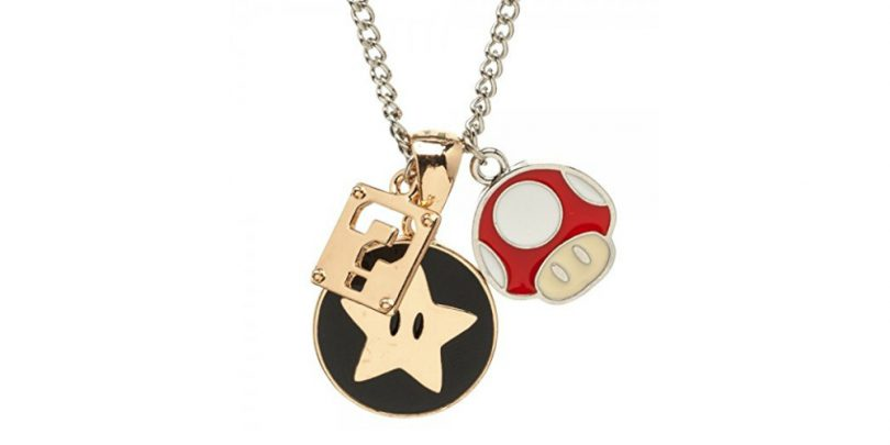 Super Mario Charm Necklace Close Up