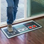 ThinkGeek Nintendo Floor Mat In Use