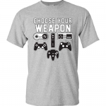 """Choose Your Weapon"" Gamer T-Shirt"