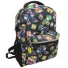 Nintendo back pack with coin zipper --mario-luigi-waluigi-wario-toad-yoshi