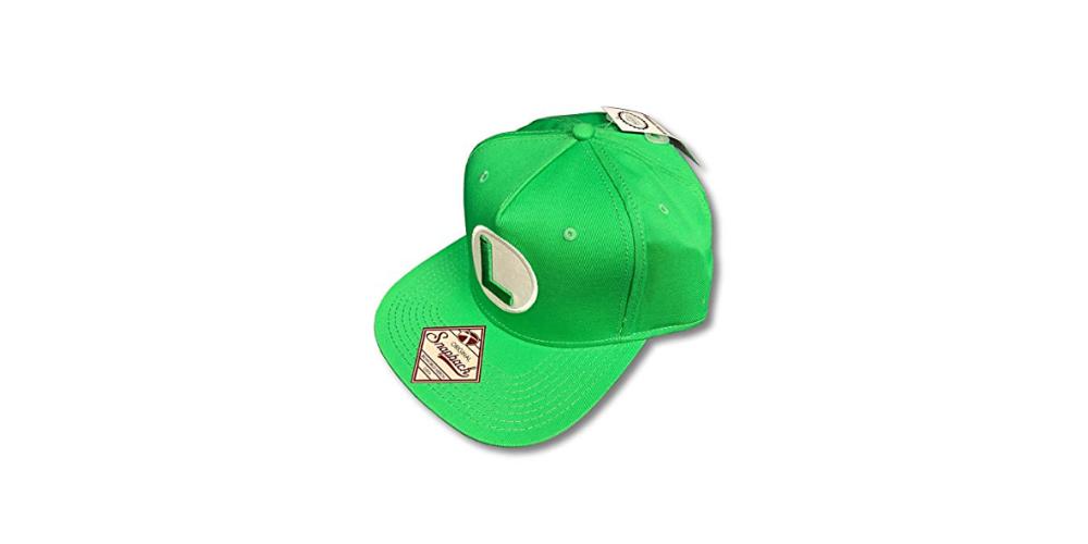 Super Mario Bros Luigi Snapback Side