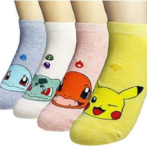 Women Novelty Low Cut Pokemon Socks