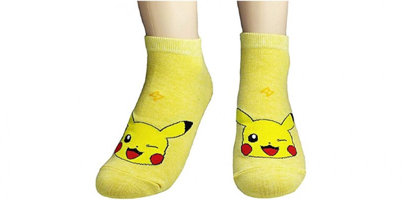 Women Novelty Low Cut Pokemon Sock Pikachu