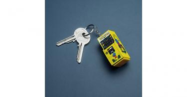 Pac Man Arcade Keychain + Keys
