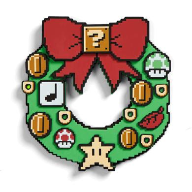 Super Mario Light Up Wreath