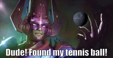 Galactus plays with the Death Star