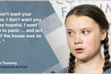 a quote from Greta Thunberg