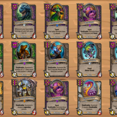 Hearthstone Battlegrounds suggested builds