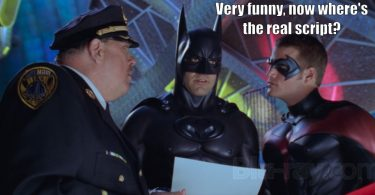 Batman sees the script