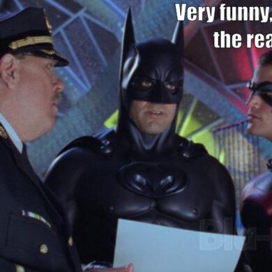 Batman sees the script
