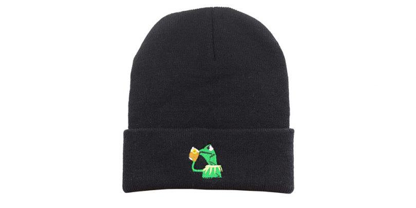 Kermit_Sipping_Tea_Beanie