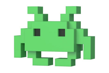 8 bit space invader Funko pop
