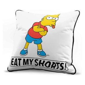 Bart eat my shorts pillow