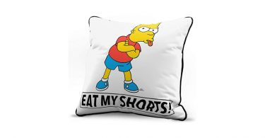 Bart eat my shorts pillow