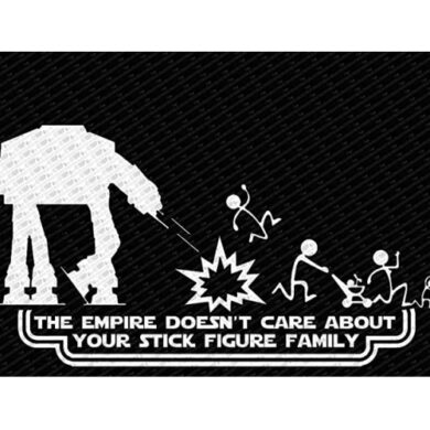 The Empire Doesn't Care Sticker