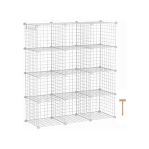 C&AHOME Wire Cube Storage Organizer 12-Cube Storage Shelf Storage Bins