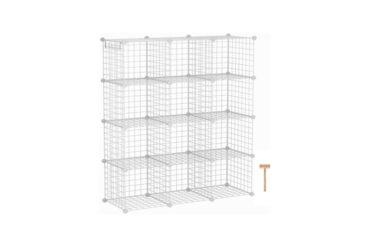 C&AHOME Wire Cube Storage Organizer 12-Cube Storage Shelf Storage Bins