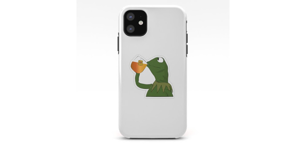 Kermit-Sips-Tea-Phone-Case