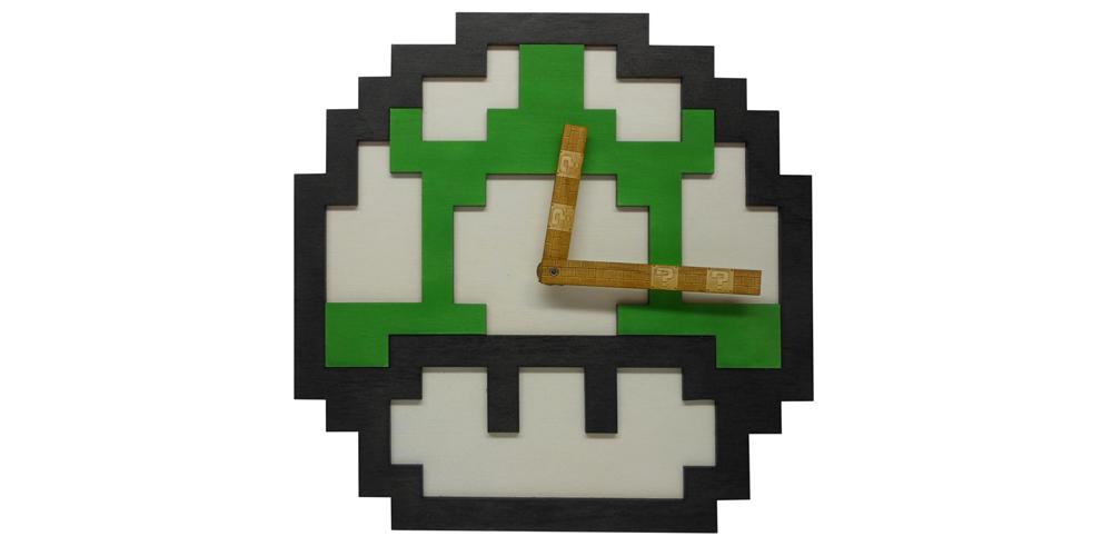 8_Bit_Super_Mario_Mushroom_Clock