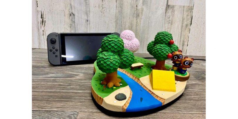 Animal_Crossing_Island_Nintendo_Switch_Dock_3D_Print_New Horizons_2