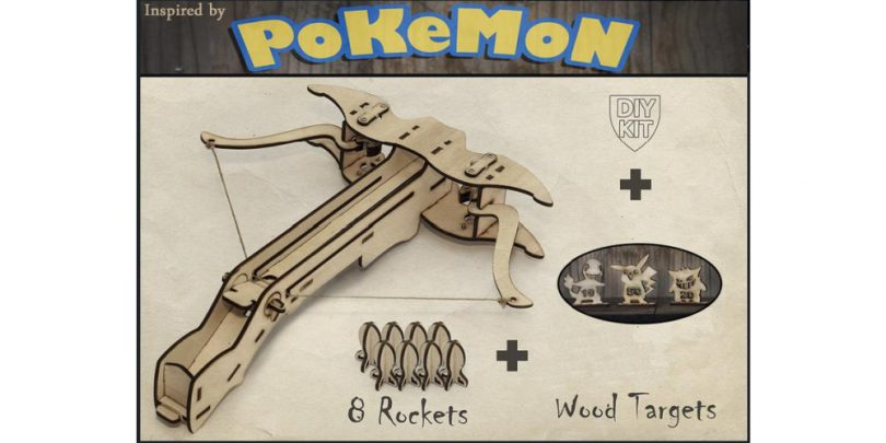 DIY_Pokemon_Crossbow_Wooden_Targets