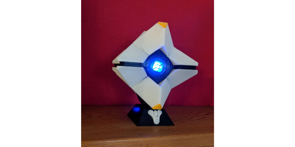 Destiny Ghost 3D Printed LED Model