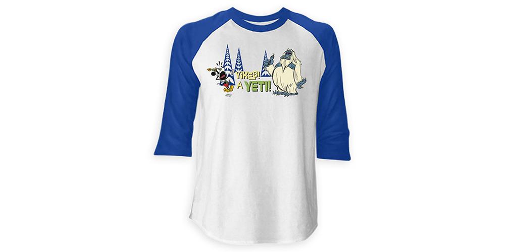 Disney Yikes a Yeti Raglan Tee