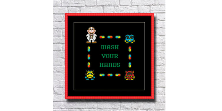 Dr_Mario_Wash_Your_Hands_Cross_Stitch_Pattern