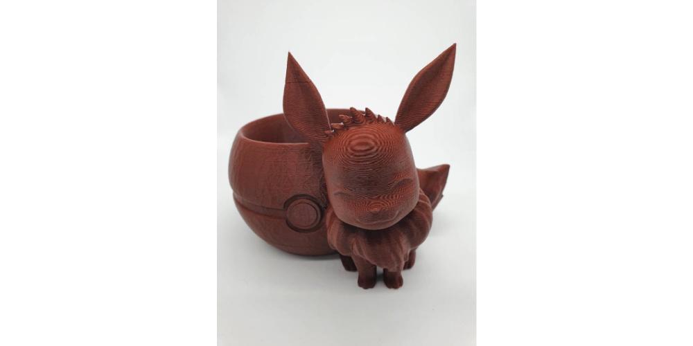 Eevee_Pokemon_Plamter_3D_Printes_Model