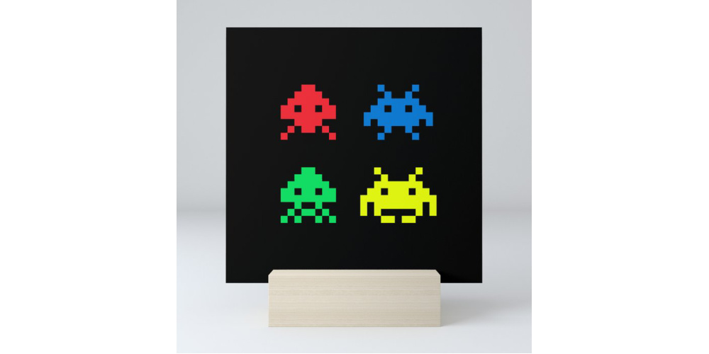 Space Invaders Mini Art Print