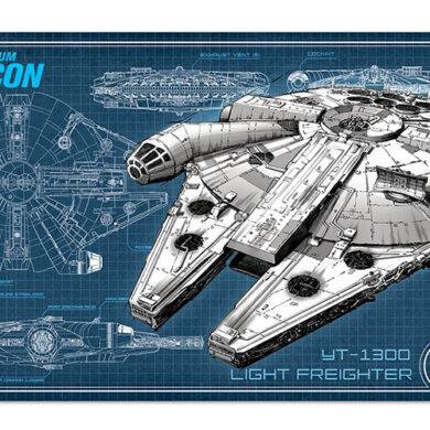 Millennium Falcon Tin Decor