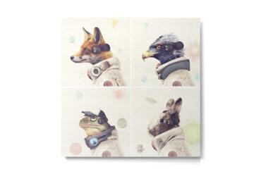 Star Fox Metal Print