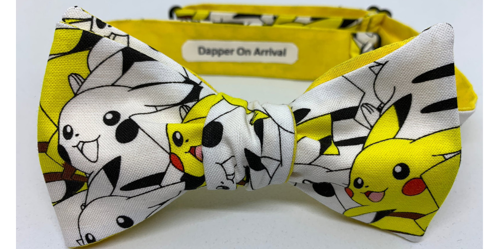 Pikachu_Collage_Bow_tie_dapper_on_arrival