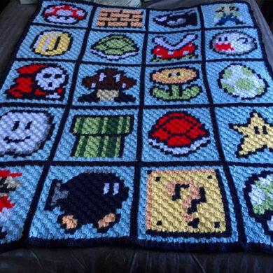 Super_Mario_Bros_Crochet_Blanket_Pattern