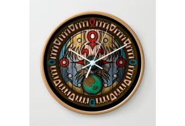 The Legend of Zelda: Town Wall Clock by kewlzidane